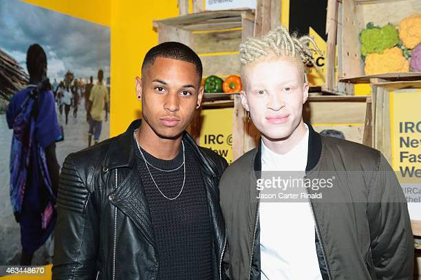 Model Shaun Ross and guest attend IRC Fashion Week PopUp and Photo Exhibition at Empire Hotel on February 14 2015 in New York City