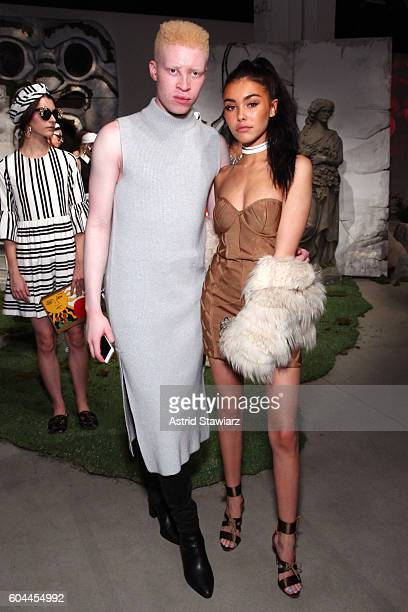 Model Shaun Ross and singer Madison Beer attend the Alice Olivia by Stacey Bendet Spring/Summer 2017 Presentation during New York Fashion Week...