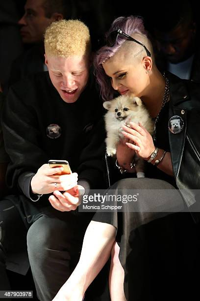 Model Shaun Ross and TV personality Kelly Osbourne attend Francesca Liberatore Spring 2016 during New York Fashion Week The Shows at The Dock...