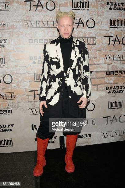 Model Shaun Ross attends day one of TAO Beauty Essex Avenue Luchini LA Grand Opening on March 16 2017 in Los Angeles California