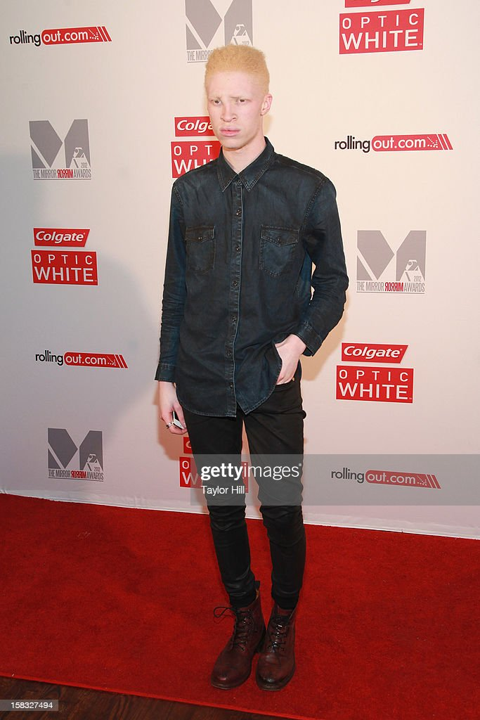 Model Shaun Ross attends the 2012 Mirror Mirror Awards at The Union Square Ballroom on December 12, 2012 in New York City.