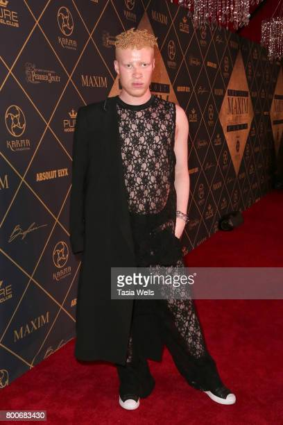 Model Shaun Ross attends the 2017 MAXIM Hot 100 Party at Hollywood Palladium on June 24 2017 in Los Angeles California