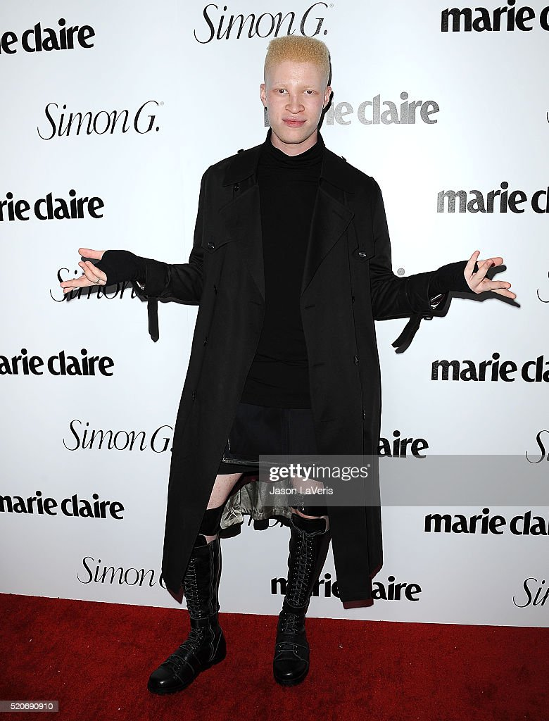 Model Shaun Ross attends the Marie Claire Fresh Faces party at Sunset Tower Hotel on April 11 2016 in West Hollywood California