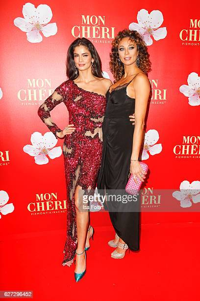 Model Shermine Shahrivar and Lilly Becker attend the Mon Cheri Barbara Tag at Postpalast on December 2 2016 in Munich Germany