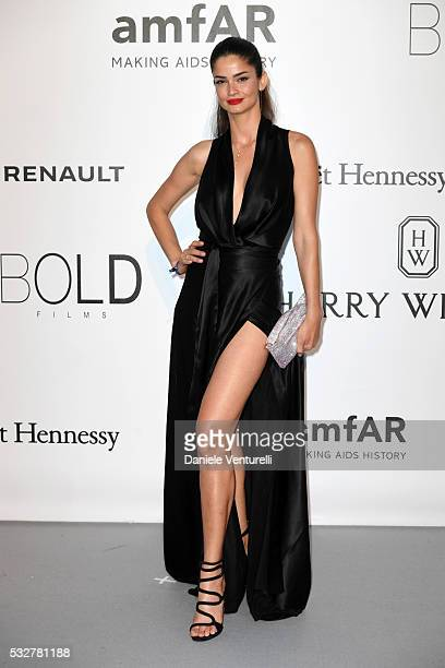 Model Shermine Shahrivar attends the amfAR's 23rd Cinema Against AIDS Gala at Hotel du CapEdenRoc on May 19 2016 in Cap d'Antibes France