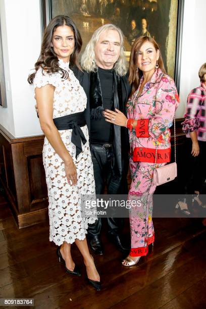 Model Shermine Shahrivar jewelry designer Thomas Sabo and his wife LuzEnith Sabo attend the Thomas Sabo Press Cocktail during the MercedesBenz...