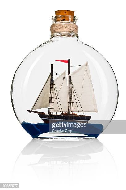 Model ship in a bottle