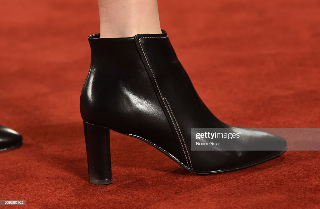 A model, shoe detail, walks the runway at the Creatures of the Wind fashion show during Fall 2016 New York Fashion Week on February 11, 2016 in New York City.