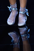 A model shoe detail walks the runway during the Giorgio Armani Prive Spring Summer 2016 show as part of Paris Fashion Week on January 26 2016 in...