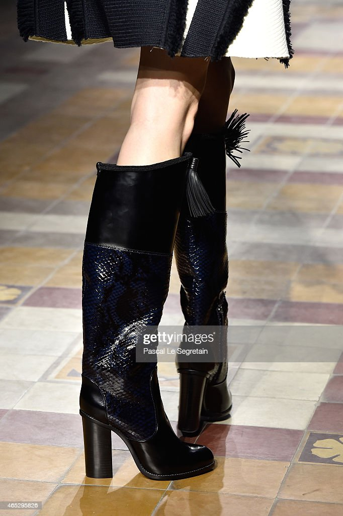 A model shoe detail walks the runway during the Lanvin show as part of the Paris Fashion Week Womenswear Fall/Winter 2015/2016 on March 5 2015 in...