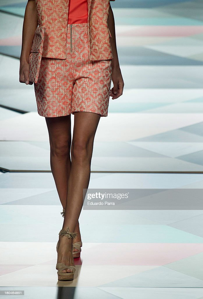 A model showcases designs by Ailanto on the runway at Ailanto show during Mercedes Benz Fashion Week Madrid Spring/Summer 2014 at Ifema on September 13, 2013 in Madrid, Spain.