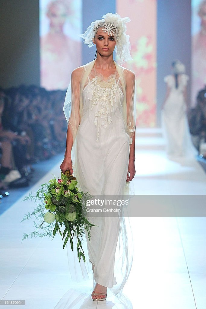 A model showcases designs by Akira on the runway at the Red Carpet Runway show during day six of L'Oreal Melbourne Fashion Festival on March 23, 2013 in Melbourne, Australia.