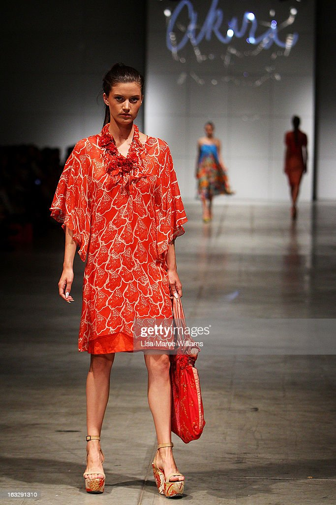 A model showcases designs by Akira on the runway during Fashion Palette 2013 on March 7, 2013 in Sydney, Australia.