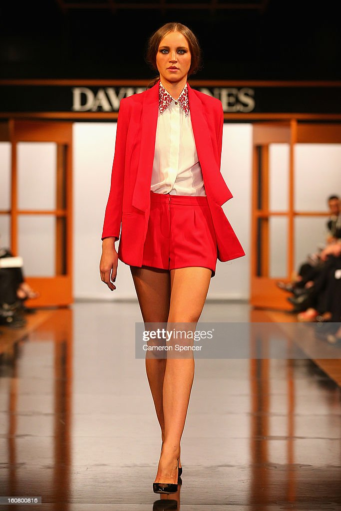 A model showcases designs by Bec & Bridge on the runway during the David Jones A/W 2013 Season Launch at David Jones Castlereagh Street on February 6, 2013 in Sydney, Australia.