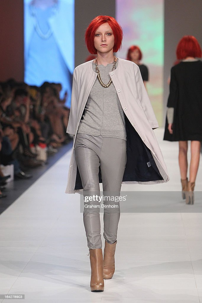A model showcases designs by bul on the runway at the L'Oreal Paris Runway 6 show during day five of L'Oreal Melbourne Fashion Festival on March 22, 2013 in Melbourne, Australia.