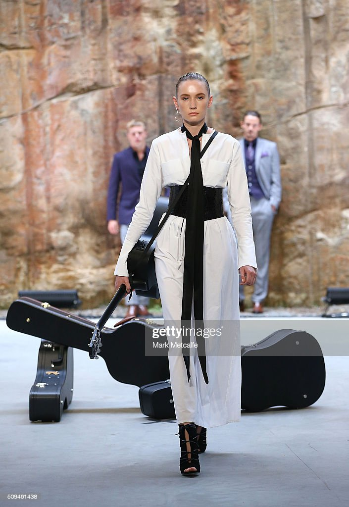 A model showcases designs by Georgia Alice during rehearsal ahead of the Myer AW16 Fashion Launch on February 11, 2016 in Sydney, Australia.