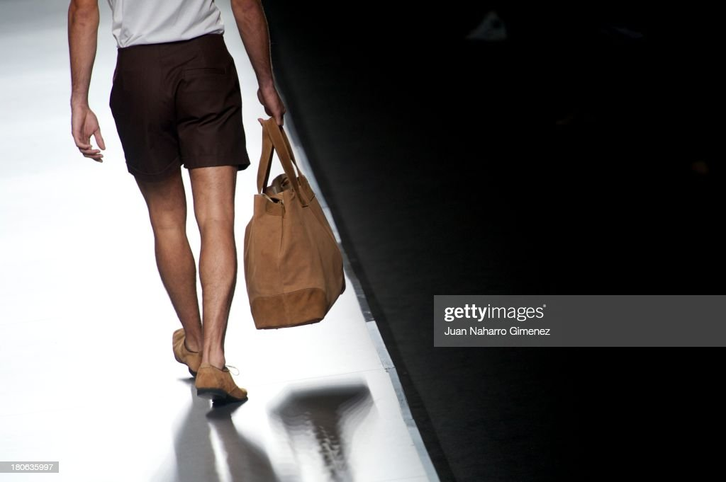 A model showcases designs by Ion Fiz on the runway at Ion Fiz show during Mercedes Benz Fashion Week Madrid Spring/Summer 2014 at Ifema on September 15, 2013 in Madrid, Spain.