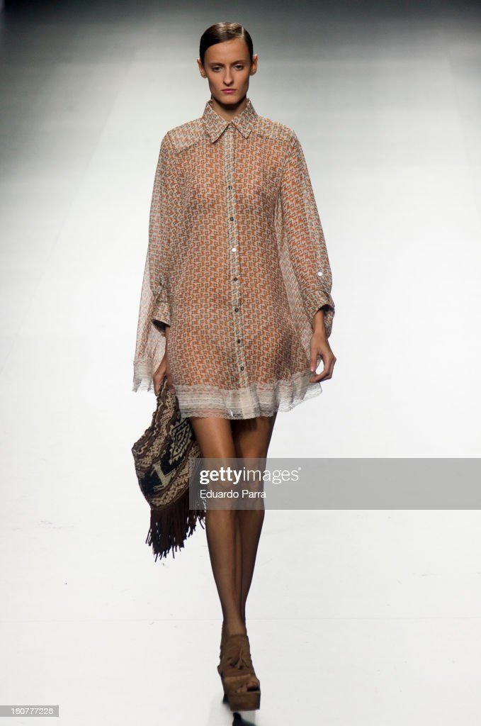 A model showcases designs by Jessica Butrich on the runway at Jessica Butrich show during Mercedes Benz Fashion Week Madrid Spring/Summer 2014 at Ifema on September 16, 2013 in Madrid, Spain.