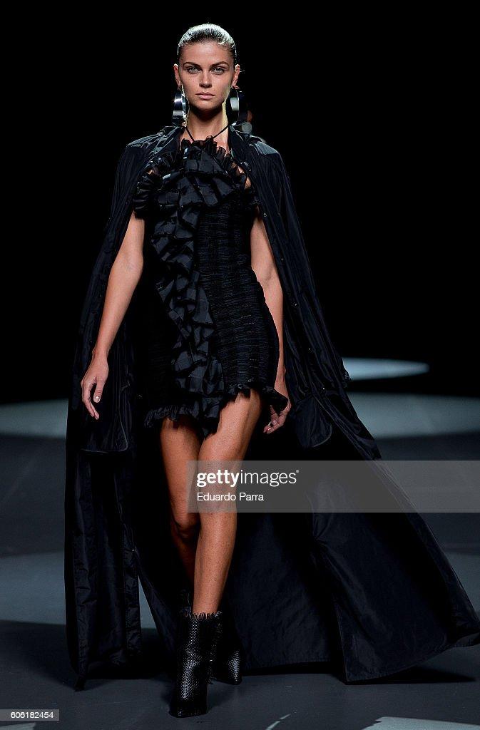model-showcases-designs-by-juan-vidal-on-the-runway-at-the-juan-vidal-picture-id606182454
