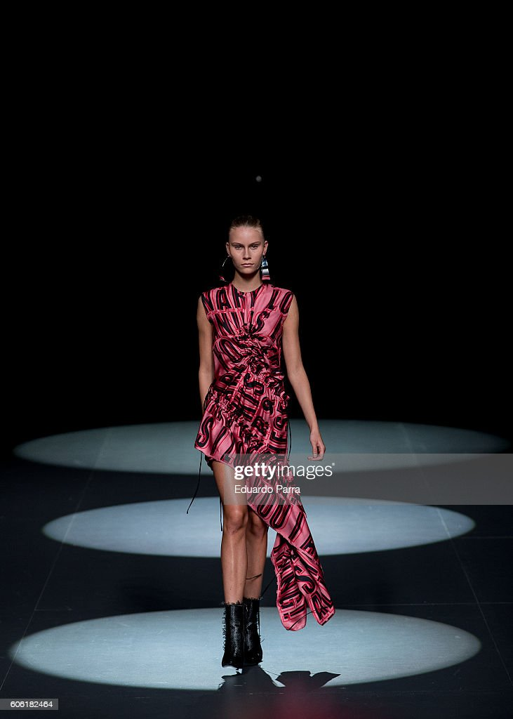 model-showcases-designs-by-juan-vidal-on-the-runway-at-the-juan-vidal-picture-id606182464