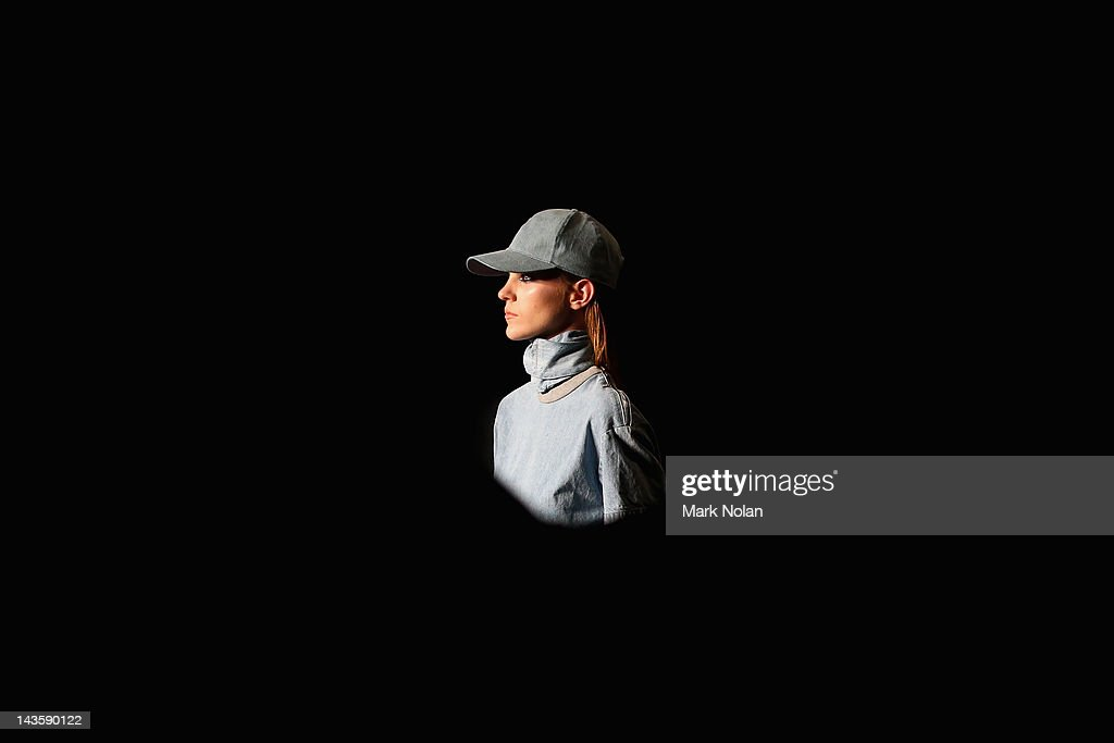 A model showcases designs by Ksubi on the catwalk on day one of MercedesBenz Fashion Week Australia Spring/Summer 2012/13 at Overseas Passenger...