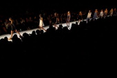 A model showcases designs by Little Joe Woman on the catwalk during Rosemount Australian Fashion Week Spring/Summer 2011/12 at Overseas Passenger...