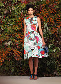 A model showcases designs by Mary Katrantzou at the Crown's Autumn Ladies Lunch at David Jones Elizabeth Street Store on March 20 2015 in Sydney...