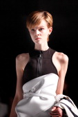 A model showcases designs by Maticevski on the runway at the Maticevski show during MercedesBenz Fashion Week Australia Spring/Summer 2013/14 at...