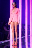 A model showcases designs by Namrata Joshipura on the runway during day five of Lakme Fashion Week Summer/Resort 2013 on March 26 2013 at Grand Hyatt...