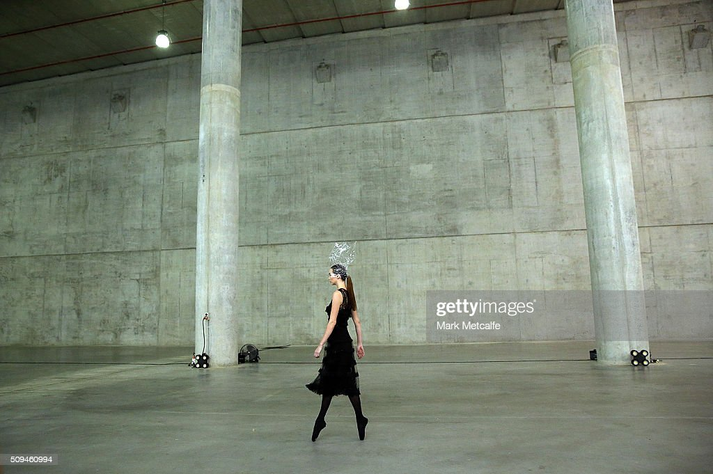 A model showcases designs by Oscar de la Renta during rehearsal ahead of the Myer AW16 Fashion Launch on February 11, 2016 in Sydney, Australia.