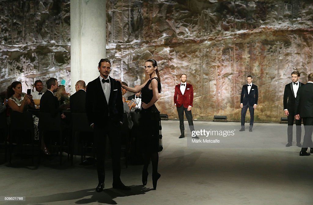 A model showcases designs by Oscar de la Renta on the runway at the Myer AW16 Fashion Launch on February 11, 2016 in Sydney, Australia.