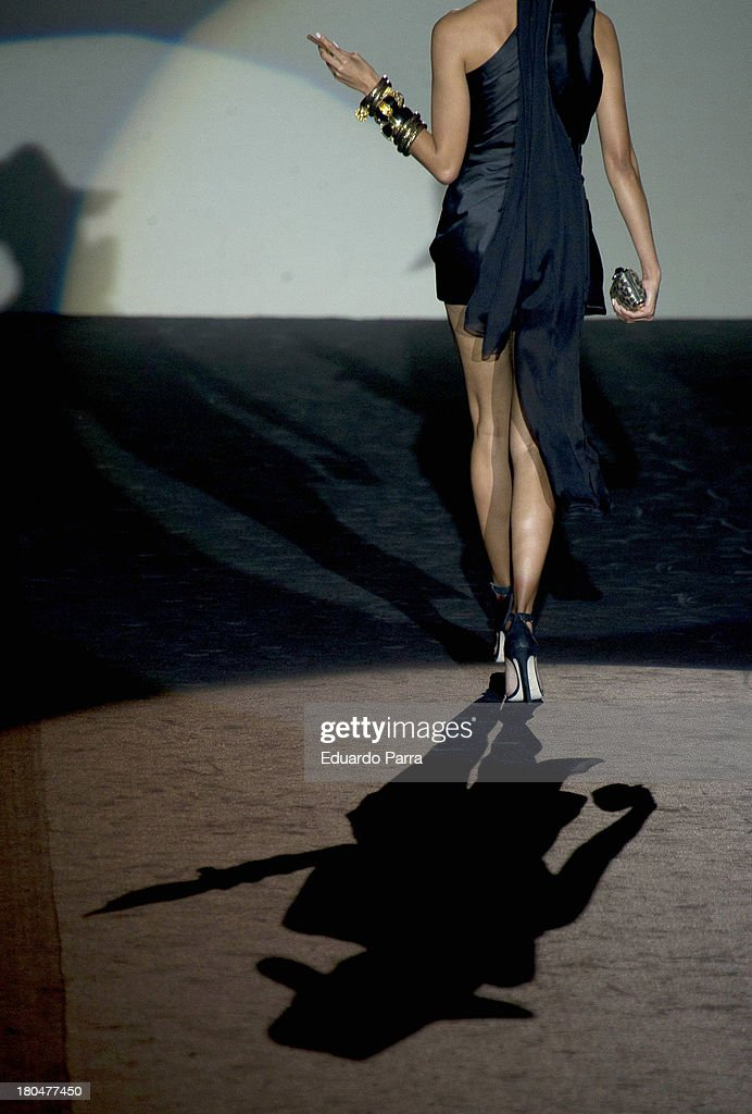 A model showcases designs by Roberto Verino on the runway at Roberto Verino show during Mercedes Benz Fashion Week Madrid Spring/Summer 2014 at Ifema on September 13, 2013 in Madrid, Spain.