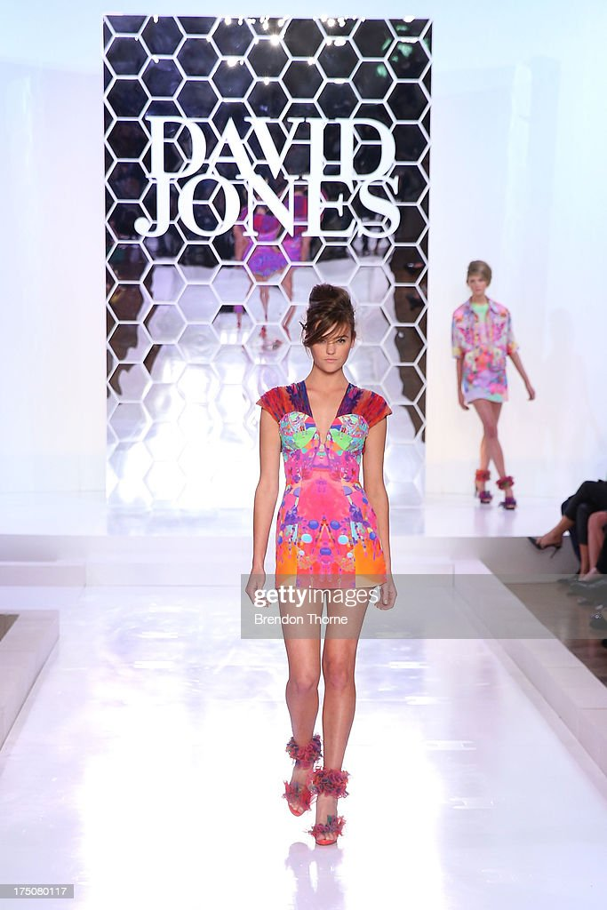 A model showcases designs by Romance was Born at the David Jones Spring/Summer 2013 Collection Launch at David Jones Elizabeth Street on July 31 2013...
