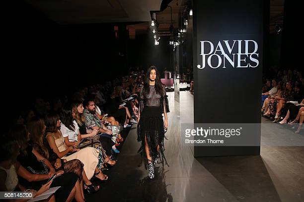 A model showcases designs by Romance was Born on the runway at the David Jones Autumn/Winter 2016 Fashion Launch at David Jones Elizabeth Street...