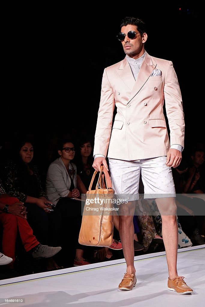 A model showcases designs by Shantanu & Nikhil on the runway during day five of Lakme Fashion Week Summer/Resort 2013 on March 26, 2013 at Grand Hyatt in Mumbai, India.