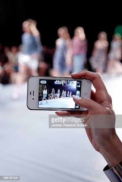 A model showcases designs by Watson X Watson on the runway at the Watson X Watson show during MercedesBenz Fashion Week Australia Spring/Summer...