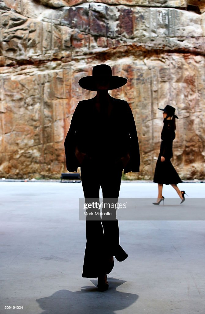 A model showcases designs by White Suede during rehearsal ahead of the Myer AW16 Fashion Launch on February 11, 2016 in Sydney, Australia.