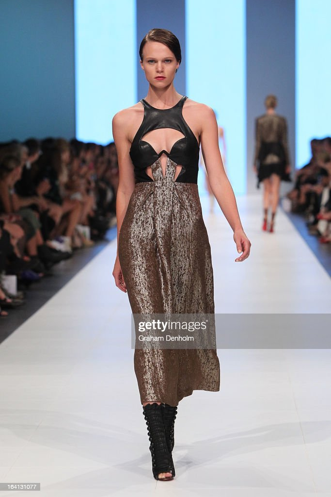 A model showcases designs by Willow on the runway at the L'Oreal Paris Runway 1 show during day three of L'Oreal Melbourne Fashion Festival on March 20, 2013 in Melbourne, Australia.