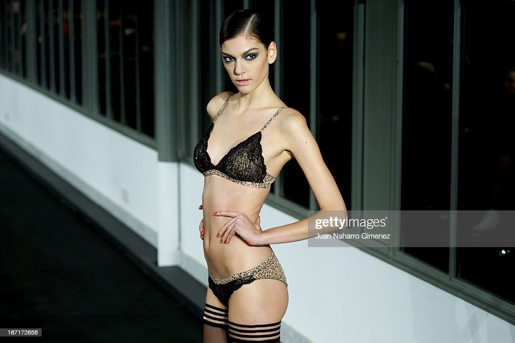 A model showcases designs by Women'secret on the runway during Women'secret New Collection presentation 20th anniversary at Botanic Garden on November 6, 2013 in Madrid, Spain.