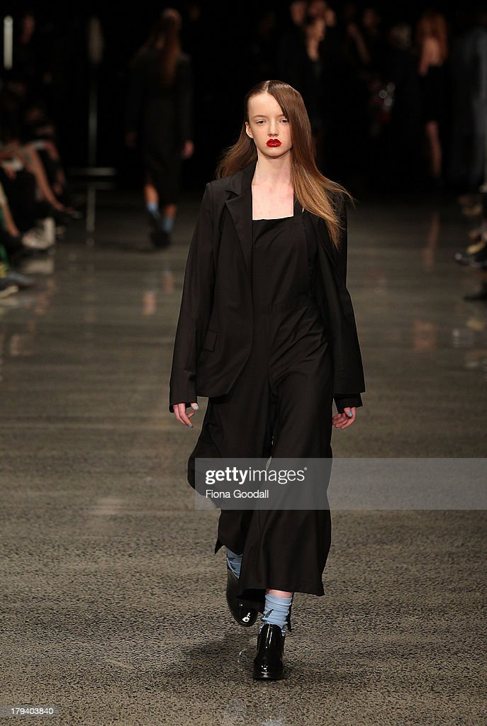 A model showcases designs by Zambesi on the runway during New Zealand Fashion Week at the Viaduct Events Centre on September 3, 2013 in Auckland, New Zealand.