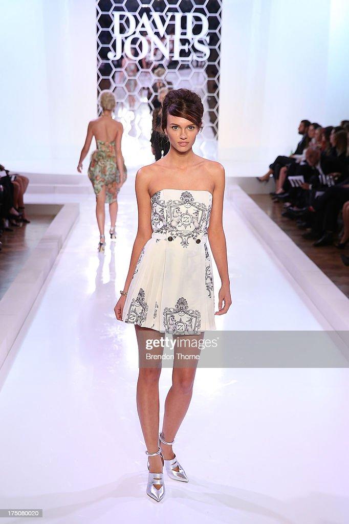 A model showcases designs by Zimmerman at the David Jones Spring/Summer 2013 Collection Launch at David Jones Elizabeth Street on July 31, 2013 in Sydney, Australia.