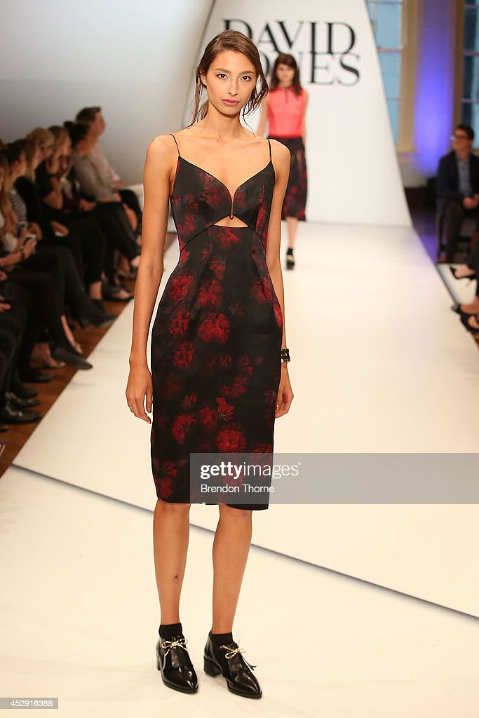 A model showcases designs by Zimmerman during a rehearsal ahead of the David Jones Spring/Summer 2014 Collection Launch at David Jones Elizabeth Street Store on July 30, 2014 in Sydney, Australia.