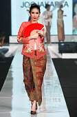 A model showcases designs on the runway by Museum Arif Syakur Jogjakarta as part of the Opening Night 'Styling Modernity A Tribute To Kebaya' show...