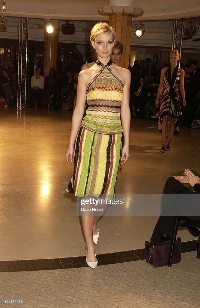 Model Showing Missoni Range, Italian Designer Missoni Celebrated Having An Outlet At Harrods By Staging A Fashion Show Of Their Latest Range.