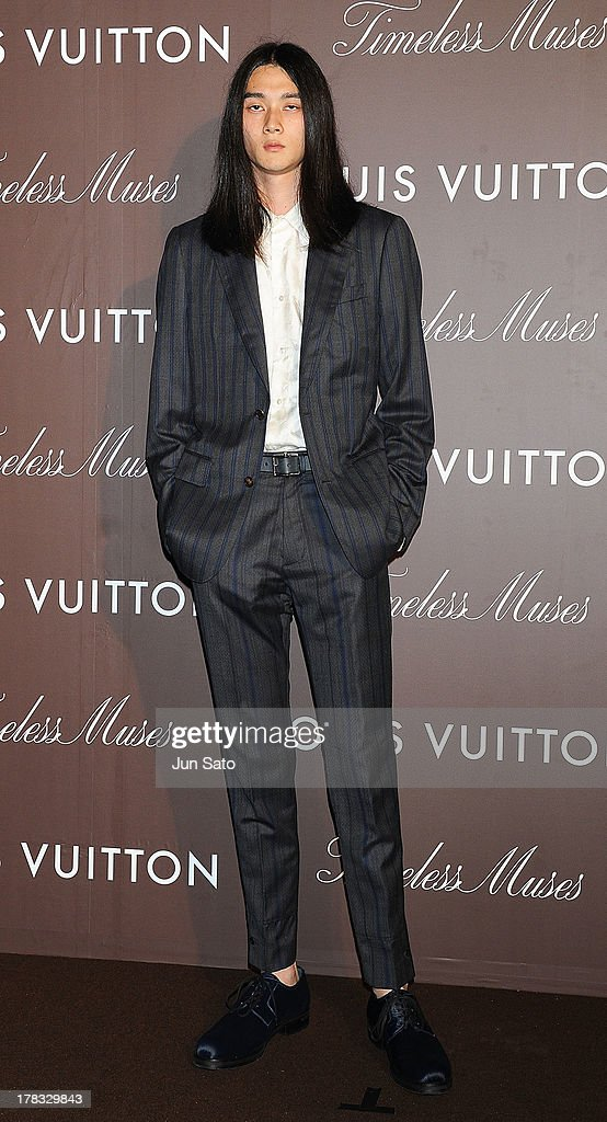 Model Shuntaro Yanagi attends Louis Vuitton 'Timeless Muses' exhibition at the Tokyo Station Hotel on August 29, 2013 in Tokyo, Japan.