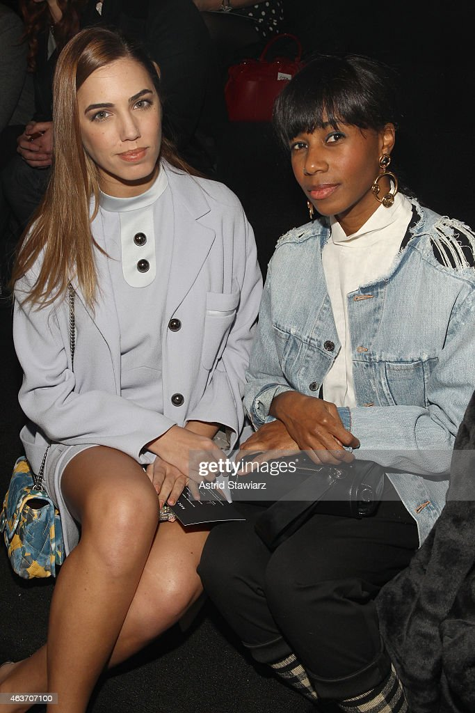 Model Simon Le Bon and Santigold attend the Marc By Marc Jacobs fashion show during Mercedes-Benz Fashion Week Fall 2015 at Pier 94 on February 17, 2015 in New York City.