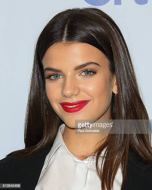 Model / Singer Sonia Ben Ammar attends the Universal Music Group's 2016 GRAMMY after party at The Theatre At The Ace Hotel on February 15 2016 in Los...