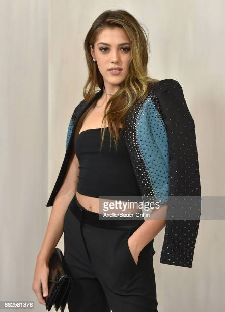 Model Sistine Stallone arrives at Hammer Museum Gala in the Garden on October 14 2017 in Westwood California