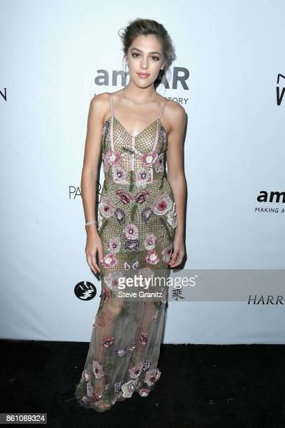 Model Sistine Stallone attends the amfAR Gala 2017 at Ron Burkle's Green Acres Estate on October 13 2017 in Beverly Hills California