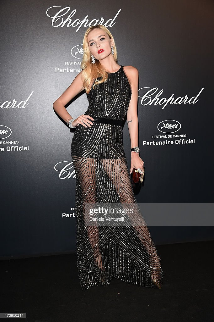 Model Snejana Onopka attends a celebrity party during the 68th annual Cannes Film Festival on May 18, 2015 in Cannes, France.